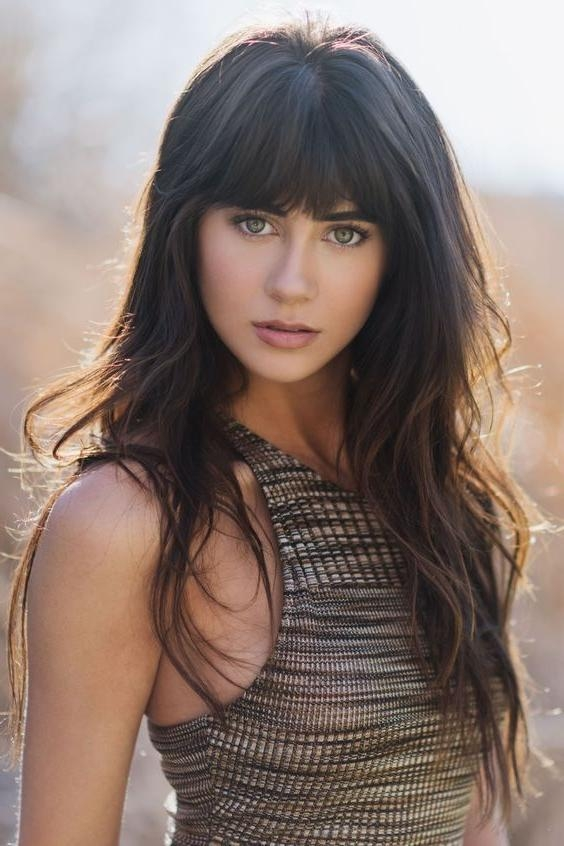 Most Popular Trendy Long Hairstyles With Bangs Intended For Best 25+ Long Haircuts With Bangs Ideas On Pinterest | Long Layers (View 9 of 15)