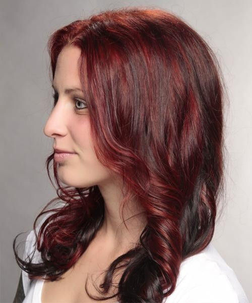 Most Popular Two Tone Long Hairstyles Intended For Long Wavy Casual Hairstyle – Medium Red Hair Color (View 10 of 15)