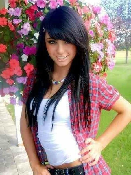 Most Recent Black Long Hairstyles With Bangs And Layers Inside Black Long Hairstyles With Bangs And Layers – Billedstrom (View 6 of 15)