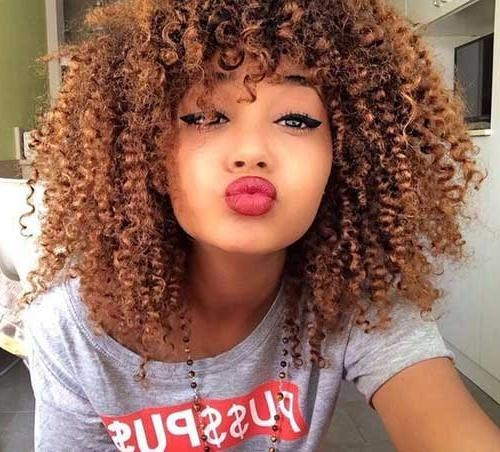 Most Recent Curly Long Hairstyles For Black Women Intended For Women Long Curly Hair (View 10 of 15)