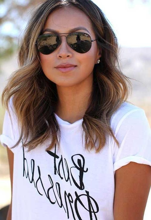 Most Recent Cute Medium Long Hairstyles Pertaining To Best 25+ Medium Long Hair Ideas On Pinterest | Medium Hair Length (View 8 of 15)
