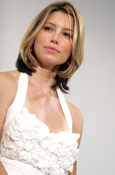 Most Recent Jessica Biel Shoulder Length Bob Hairstyles Throughout More Pics Of Jessica Biel Mid Length Bob (7 Of 11) – Mid Length (View 8 of 15)