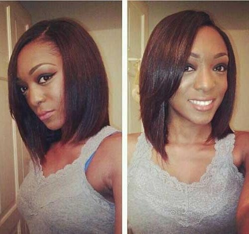 Most Recent Long Haircuts For Black Women Within 20 Cute Bob Hairstyles For Black Women | Short Hairstyles (View 14 of 15)