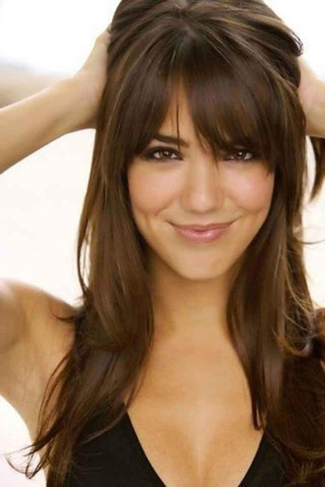 Most Recent Long Haircuts Layered With Bangs Inside Best 25+ Layered Bangs Hairstyles Ideas On Pinterest | Side Bang (View 12 of 15)