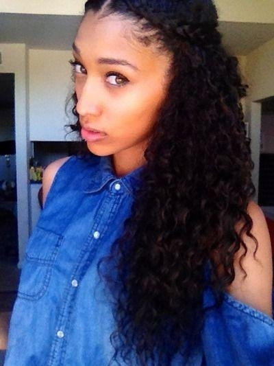 Most Recent Long Hairstyles For Naturally Curly Hair Pertaining To Best 25+ Curly Hair Braids Ideas On Pinterest | Natural Curly (View 5 of 15)