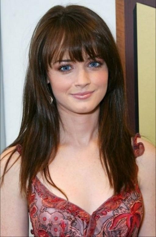 15 Photo of Long Hairstyles For Round Faces With Bangs