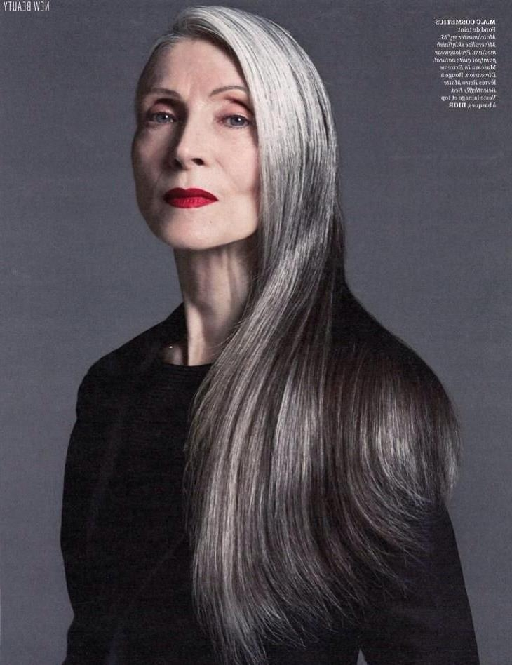Most Recent Long Hairstyles On Older Women With Regard To 269 Best Long Hair Older Women Images On Pinterest | Going Gray (View 6 of 15)