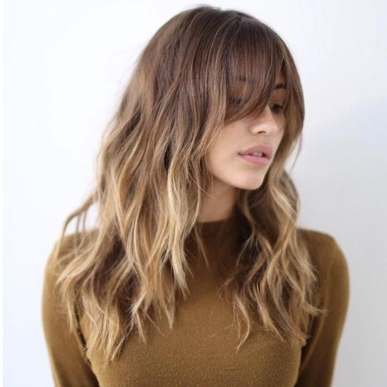 Most Recent Long Hairstyles With Bangs And Layers For Round Faces For Best 25+ Round Face Bangs Ideas On Pinterest | Short Hair With (View 3 of 15)
