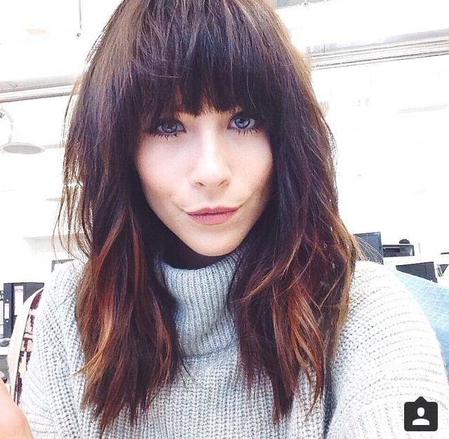 Most Recent Long Hairstyles With Full Fringe Regarding The 25+ Best Full Fringe Hairstyles Ideas On Pinterest | Full (View 4 of 15)