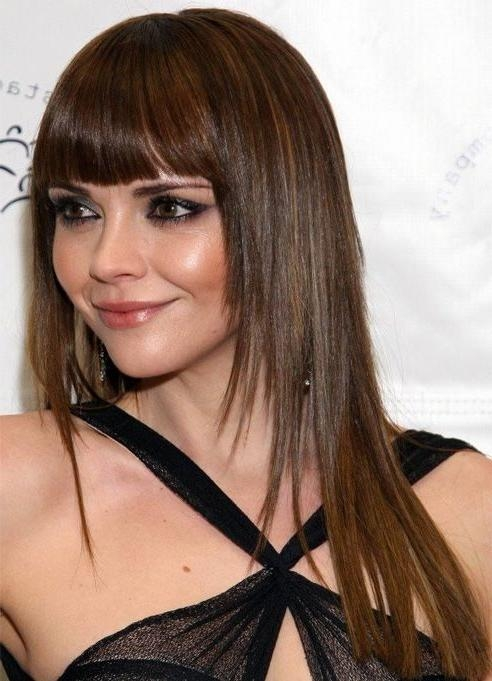 Most Recent Long Hairstyles With Full Fringe Within Más De 25 Ideas Increíbles Sobre Full Fringe Long Hair En (View 11 of 15)