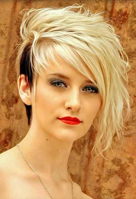 Most Recent One Side Short One Side Long Hairstyles For 35 Short Hair Color Ideas | Short Hairstyles 2016 – 2017 | Most (View 10 of 15)