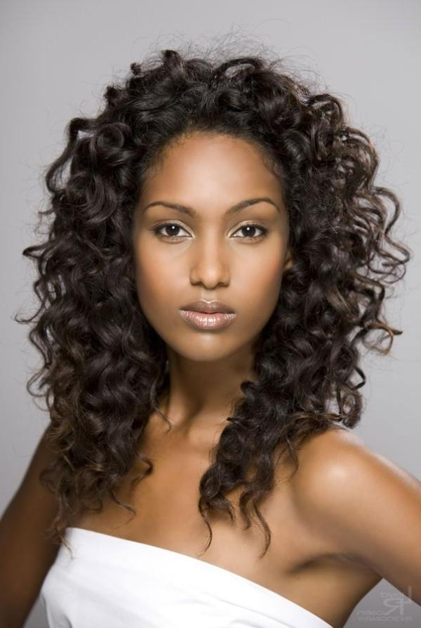 Most Recently Released Curly Long Hairstyles For Black Women Within 35 Great Natural Hairstyles For Black Women Pictures – Slodive (View 11 of 15)