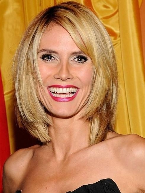 Most Recently Released Heidi Klum Shoulder Length Bob Hairstyles Pertaining To 11 Heidi Klum Hairstyles: Classic Hairstyle – Popular Haircuts (View 11 of 15)