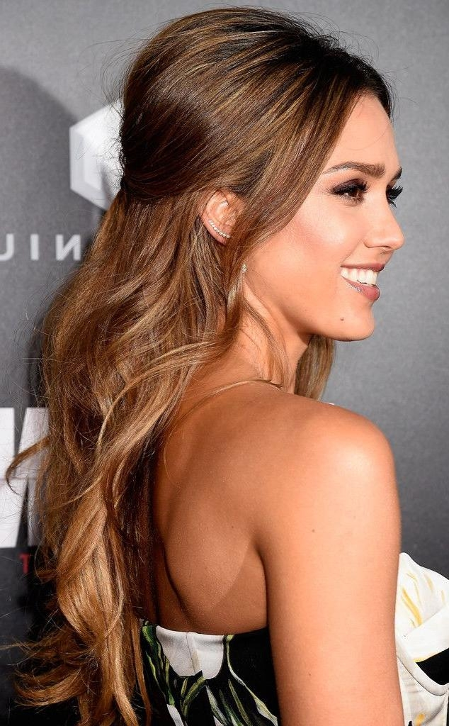 Most Recently Released Jessica Alba Long Hairstyles Inside Celebrity Hairstyles : Jessica Alba Best Haircut Jessica Alba (View 6 of 15)
