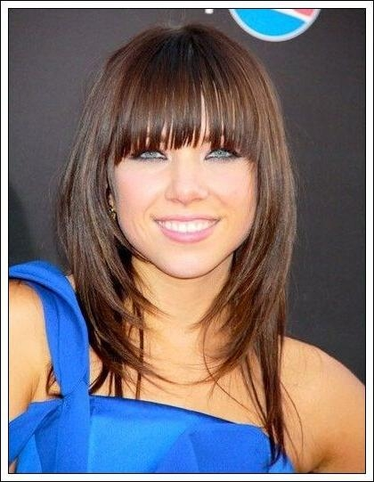 Most Recently Released Long Bob Hairstyles With Fringe With 19 Mejores Imágenes De Long Bob Hairstyles With Bangs En Pinterest (View 14 of 15)