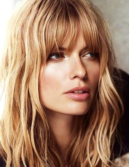 Most Recently Released Long Haircuts Layers And Bangs Intended For 20 Layered Hairstyles For Women With 'problem' Hair – Thick, Thin (Gallery 8 of 15)