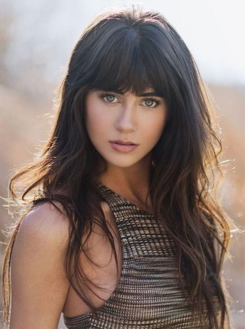 Most Recently Released Long Haircuts With Bangs With Best 25+ Bangs Long Hair Ideas On Pinterest | Fringe Bangs, Bangs (View 11 of 15)