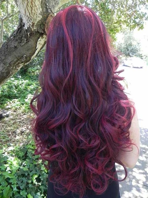 Most Recently Released Purple Long Hairstyles Regarding 20 Best Long Hairstyles For Curly Hair | Hairstyles & Haircuts (View 10 of 15)
