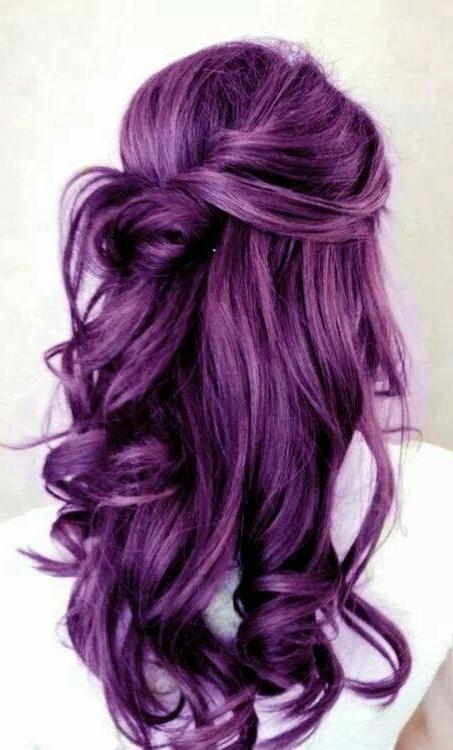 Featured Photo of Purple Long Hairstyles