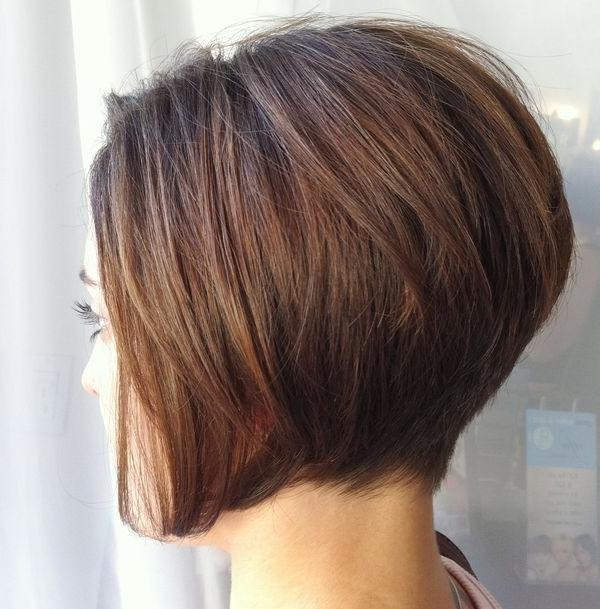 Most Recently Released Short Stacked Bob Haircuts With Bangs In 30 Stacked A Line Bob Haircuts You May Like – Pretty Designs (View 10 of 15)