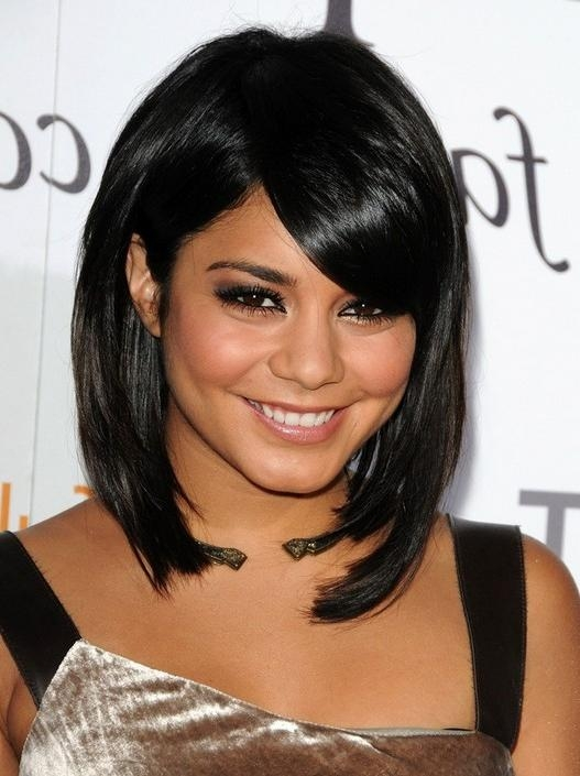 Most Recently Released Vanessa Hudgens Bob Hairstyles Intended For Vanessa Hudgens Short Hairstyles: Bob Haircut With Bangs – Popular (View 5 of 15)
