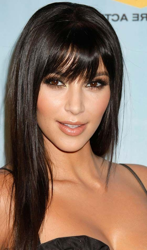 Most Up To Date Black Long Hairstyles With Bangs And Layers With Regard To Best 25+ Front Bangs Hairstyles Ideas On Pinterest | Long Front (View 10 of 15)