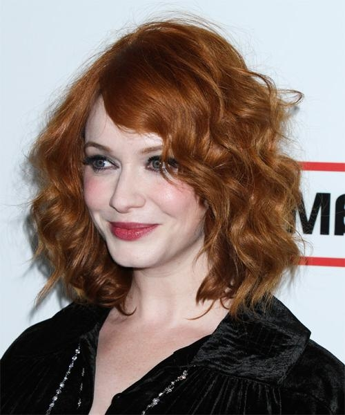 Most Up To Date Christina Hendricks Bob Hairstyles For Christina Hendricks Medium Wavy Casual Hairstyle – Medium Red (View 11 of 15)