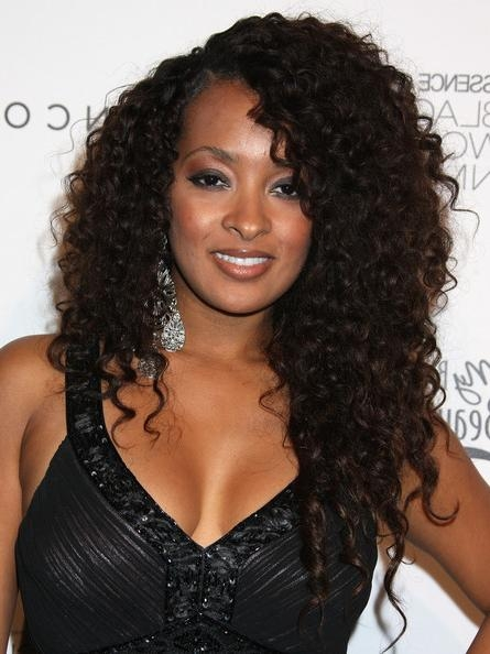 Most Up To Date Curly Long Hairstyles For Black Women Intended For Hairstyles For Black Women With Medium Hair (View 12 of 15)