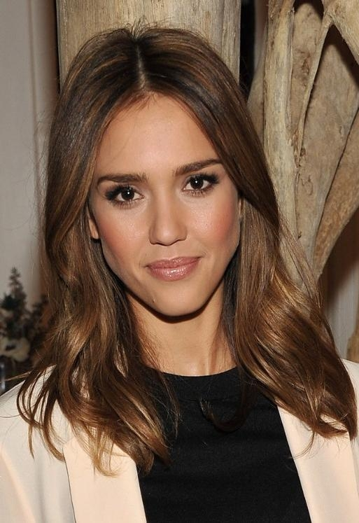 Most Up To Date Jessica Alba Long Hairstyles Inside Jessica Alba Long Wavy Hairstyle – Hairstyles Weekly (View 9 of 15)