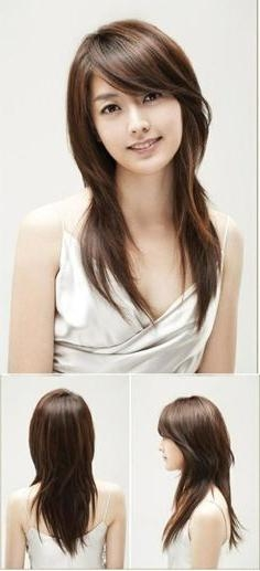 Most Up To Date Korean Long Hairstyles For Round Faces Pertaining To Hairstyle For Asian Not Straight Hair Round Face – Google Search (View 11 of 15)
