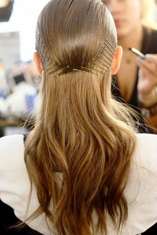 Most Up To Date Long Hairstyles With Bobby Pins Pertaining To Best 25+ Bobby Pin Hairstyles Ideas On Pinterest | Bobby Pins (View 14 of 15)