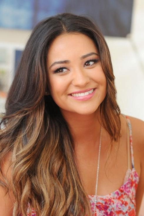 Most Up To Date Long Hairstyles Without Bangs Inside Long Ombre Hair Style Without Bangs – Shay Mitchell Hairstyles (View 14 of 15)