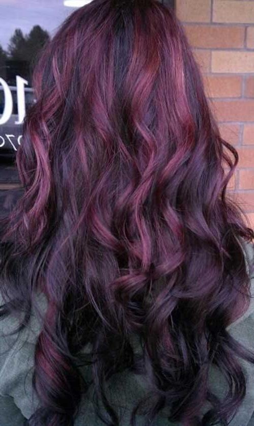 Most Up To Date Purple Long Hairstyles With Regard To 35+ Women With Long Hair | Long Hairstyles 2017 & Long Haircuts  (View 12 of 15)