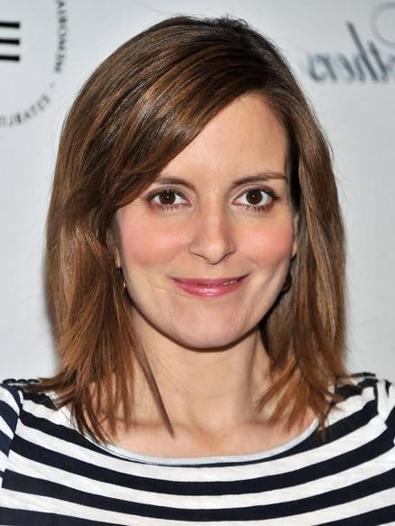 Most Up To Date Tina Fey Shoulder Length Bob Hairstyles Throughout Textured Straight, Shoulder Length Hairstyles For Fine Hair: Tina (View 9 of 15)