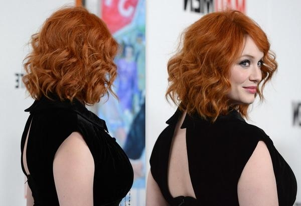 Newest Christina Hendricks Bob Hairstyles In Christina Hendricks New Haircut 2013 – Stylish Eve (View 12 of 15)