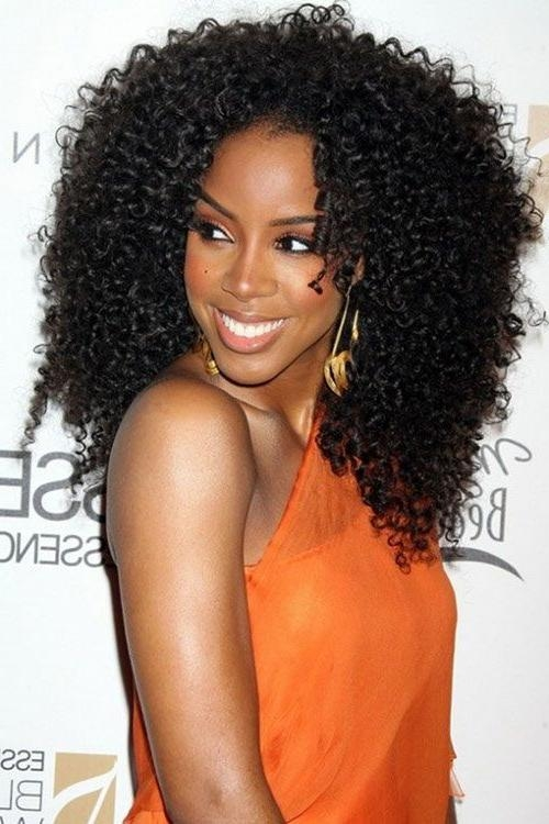 Newest Curly Long Hairstyles For Black Women Pertaining To Black Curly Hairstyle For Black Women (View 13 of 15)