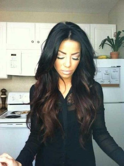 Newest Dark Long Hairstyles Pertaining To 35+ Wavy Haircuts 2015 – 2016 | Long Hairstyles 2017 & Long (View 12 of 15)