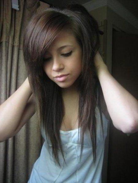 Newest Emo Long Hairstyles For Best 25+ Emo Haircuts For Girls Ideas On Pinterest | Lesbian Hair (View 13 of 15)