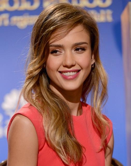 Newest Jessica Alba Long Hairstyles Inside Jessica Alba Hairstyles: Side Swept Hairstyle For Long Hair (View 13 of 15)
