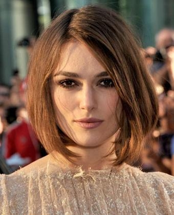 Newest Keira Knightley Bob Hairstyles With Regard To Knightley's Chic Bob Haircut (View 13 of 15)