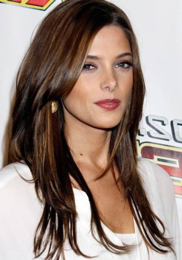 Newest Long Haircuts For Brunettes Pertaining To Hairstyles Ideas : Brunette Hairstyles With Caramel Highlights Uk (Gallery 11 of 15)
