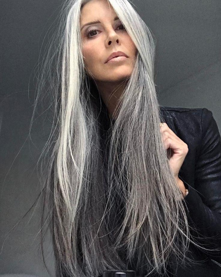 Newest Long Hairstyles For Grey Haired Woman Throughout Best 25+ Long Gray Hair Ideas On Pinterest | Long Silver Hair (View 12 of 15)