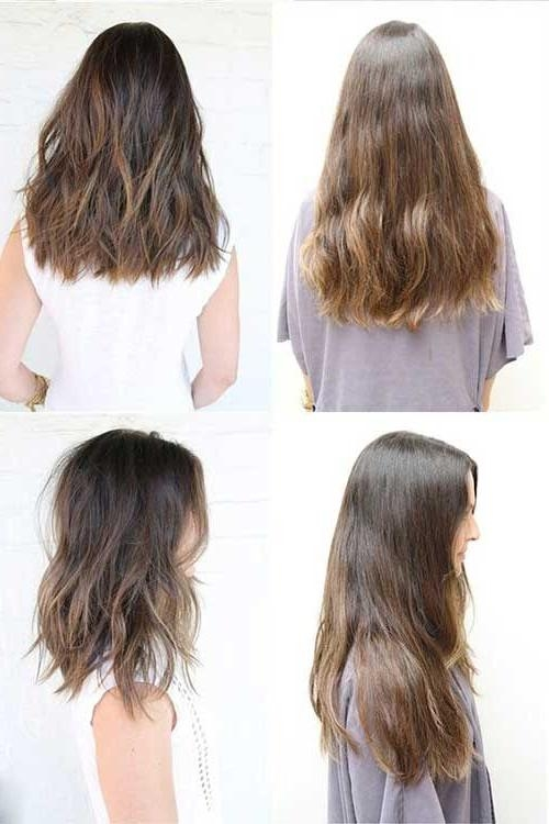 Newest Medium Long Haircuts Throughout Best 25+ Medium Long Haircuts Ideas On Pinterest | Brown Hair Cuts (View 13 of 15)
