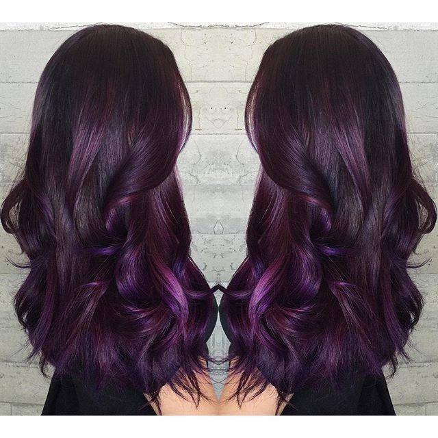 Newest Purple Long Hairstyles Throughout Best 25+ Long Purple Hair Ideas On Pinterest | Violet Hair, Dark (View 13 of 15)