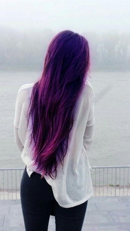 Newest Purple Long Hairstyles Within Best 25+ Long Purple Hair Ideas On Pinterest | Violet Hair, Dark (View 14 of 15)