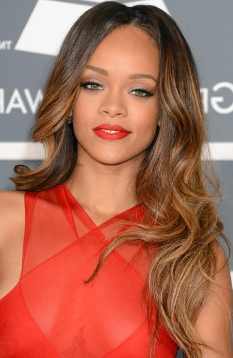Newest Rihanna Long Hairstyles With Rihanna Hairstyles Gallery – 28 Rihanna Hair Pictures – Pretty Designs (View 14 of 15)