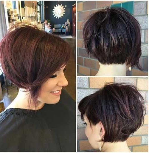 Newest Short Stacked Bob Haircuts With Bangs With Regard To Best 25+ Short Stacked Hair Ideas On Pinterest (View 11 of 15)