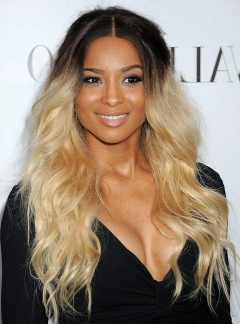 Newest Two Tone Long Hairstyles Pertaining To Ciara Long Hairstyle: Two Tone Waves – Pretty Designs (View 13 of 15)