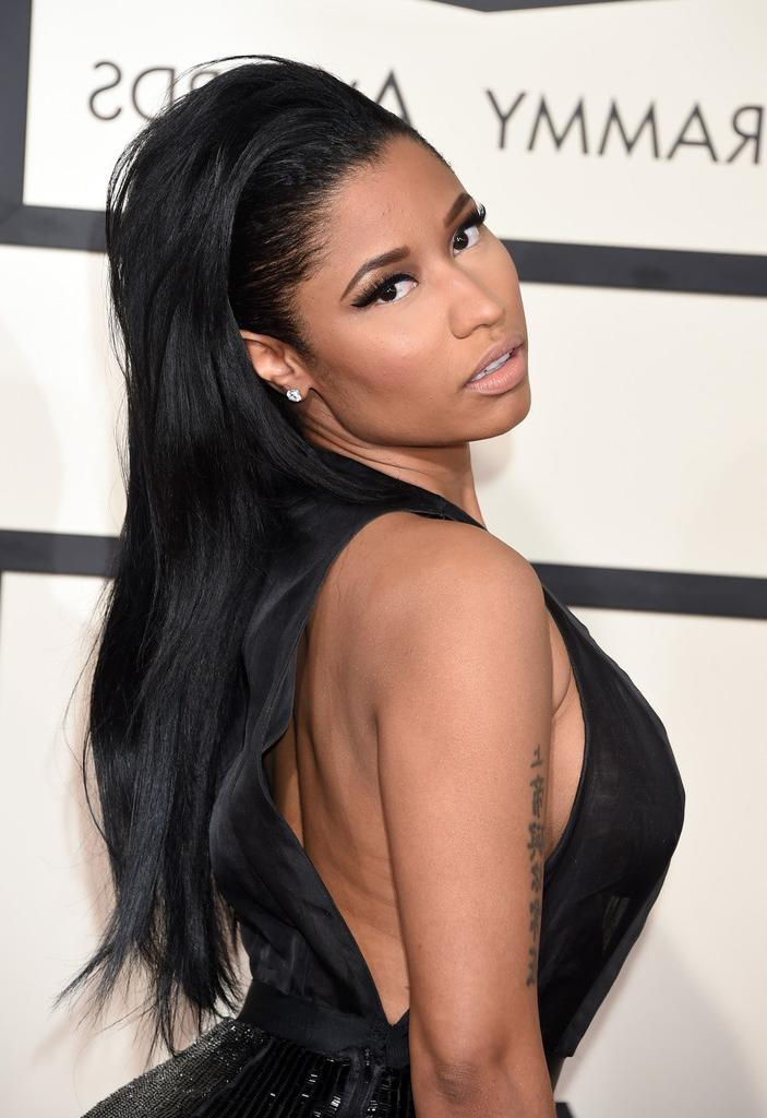 Nicki Minaj Long Straight Cut – Nicki Minaj Long Hairstyles Looks With Nicki Minaj Long Hairstyles (View 11 of 15)
