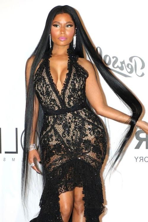 Nicki Minaj's Hairstyles & Hair Colors | Steal Her Style Within Nicki Minaj Long Hairstyles (View 14 of 15)